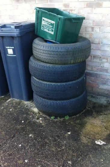 Abandoned tyres