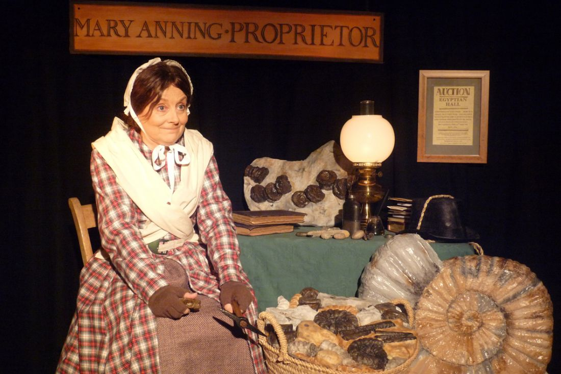 The Fossil Lady of Lyme which is being performed at Talaton Parish Hall on Saturday February 24.