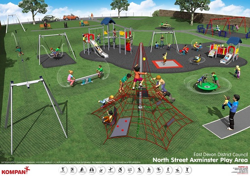 £60,000 of East Devon's capital budget has been allocated to provide new equipment at the North Street play area in Axminster for the benefit of local children