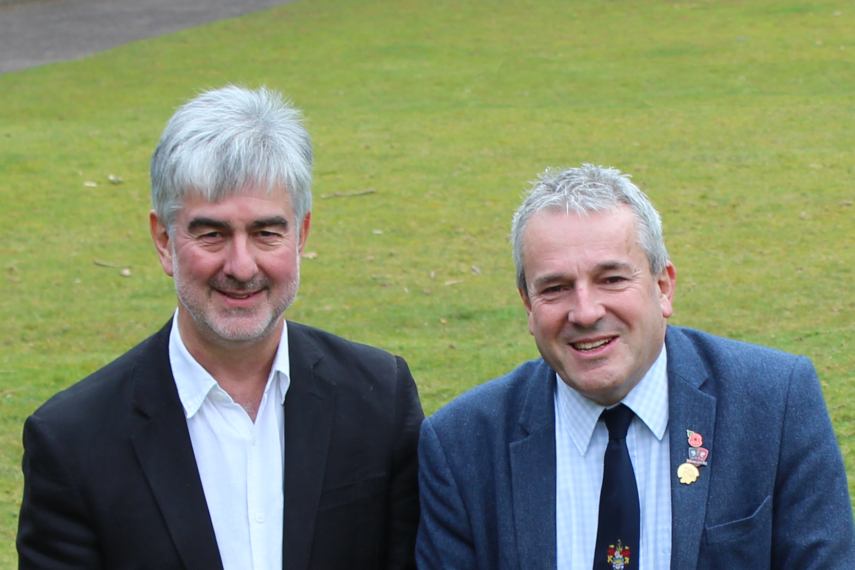 Pictured is new East Devon District Council Leader Cllr Ian Thomas (left) with Deputy Leader Cllr Philip Skinner.
