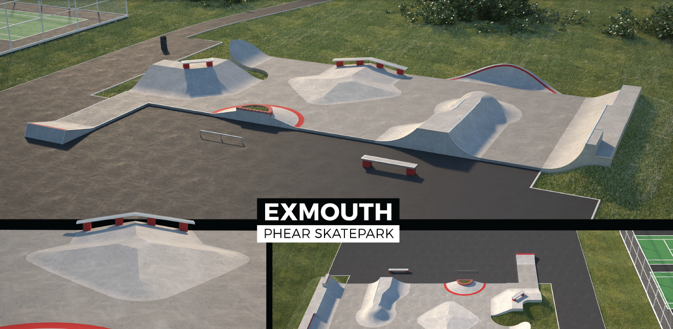 Phear Park's new skate park will feature high quality concrete surfaces and ramps, which will provide a better skating experience