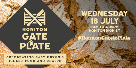 Come see, come try, come buy at Honiton Gate to Plate on Wednesday 18 July and meet 60 of Devon's finest food and craft producers