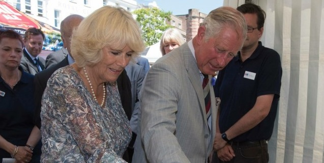 Pictured are The Prince of Wales and The Duchess of Cornwall attending an event in Exeter in 2016. Photo courtesy of Taste of the West.