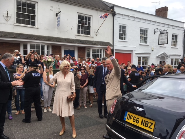 HRH The Duchess of Cornwall and HRH Prince Charles who attended the hugely successful inaugural Honiton Gate to Plate event
