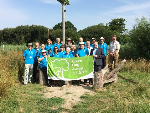 East Devon District Council's Seaton Wetlands nature reserve has won a Green Flag Award for the second year running