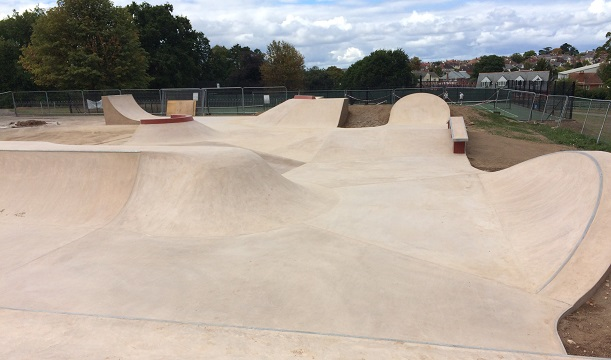 East Devon's cutting edge skate park in Exmouth will be ready for use from Wednesday 14 September