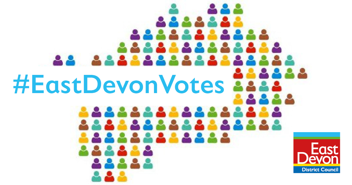 Make sure you're registered to vote in time for the East Devon district, town and parish elections this May