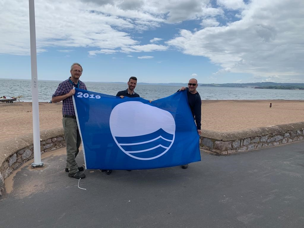 Left to right: East Devon Beach Safety Officer Pete Blyth, Nick Christo StreetScene Area Manager West and StreetScene Area officer Simon Kennedy