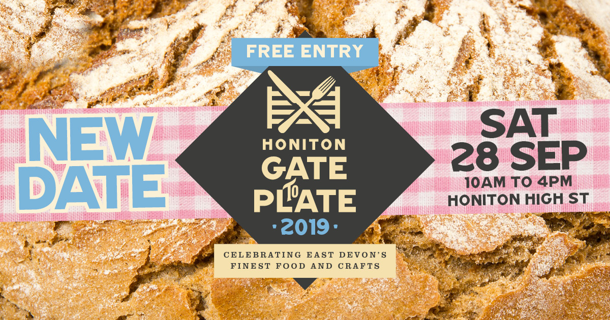 Honiton Gate to Plate - new date set for Saturday 28 September