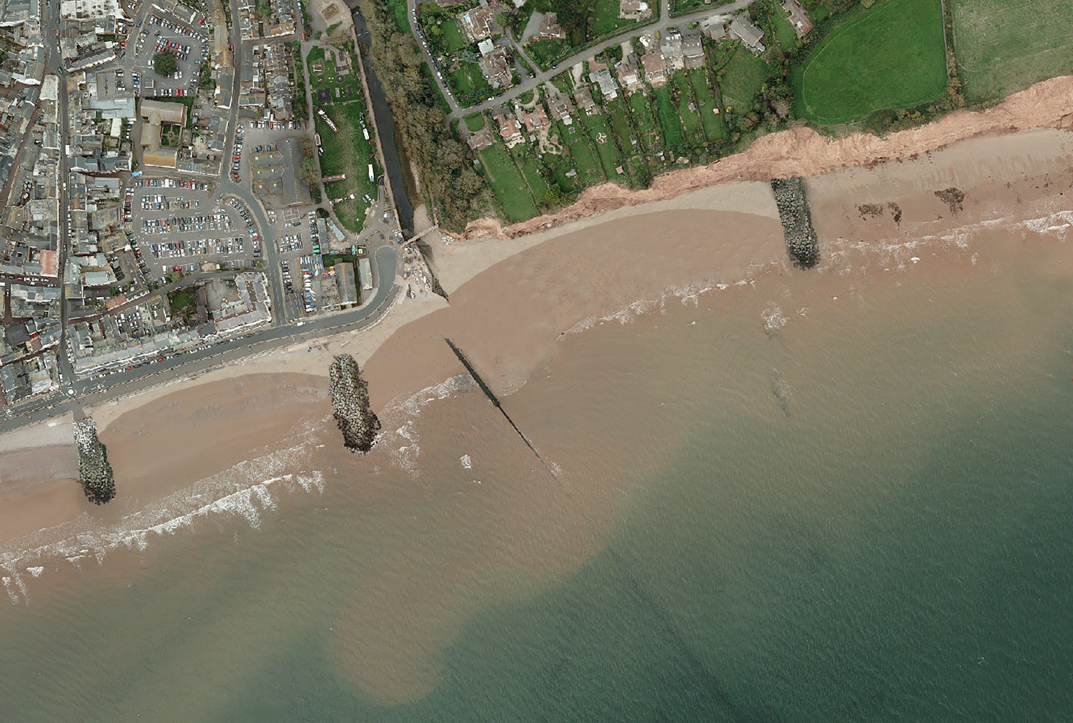The preferred option would involve beach replenishment, periodic beach recycling, a new rock groyne on East Beach, raising the height of the splash wall and repairs to the river Sid training wall