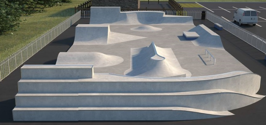 The local skate park user group who were consulted on Budleigh's new skate park were delighted with Maverick's proposed design