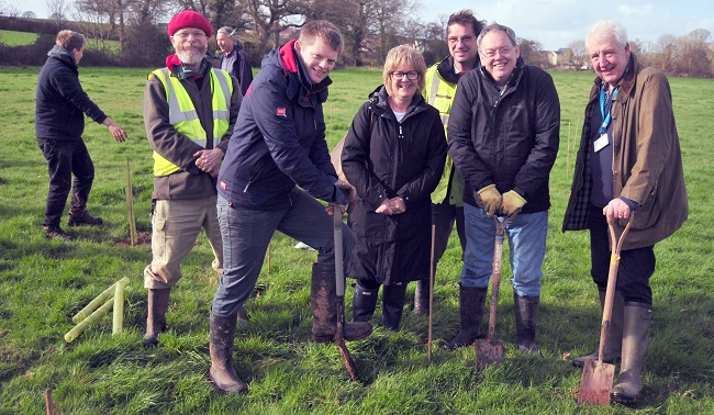 Community tree planting success for 'Cranbrook Canopy'
