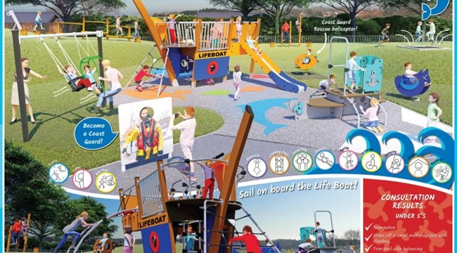A plan for Brixington Play area in Exmouth