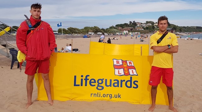 RNLI lifeguards to provide Easter cover on Exmouth beach Kaifen Phippen and Alex Sanger-Anderson